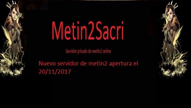 Nuevo servidor metin2sacri