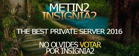 Insignia2  Servidor 60%pvp 40% pvm ONLINE 24/7